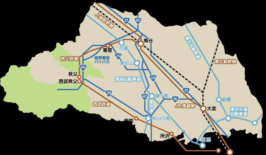秩父広域地図